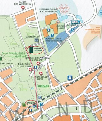 Anreise Anfahrt Angebot Reichel's Parkhotel Bad Windsheim